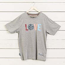 T-shirt LOVE insv grå