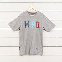 T-shirt MOD rak grå