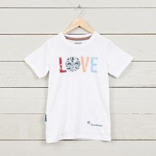 T-shirt LOVE barn vit
