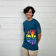 Scout t-shirt Regnbåge